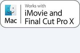 Funciona con iMovie y Final Cut Pro X